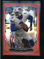 E.J. EJ MANUEL 2014 BOWMAN CHROME #19 RED REFRACTOR PARALLEL #02/25 AB9015