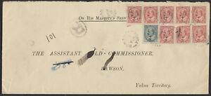 1906 Bonanza Yukon to Dawson, 6x Registered Rate, OHMS Asst Gold Commissioner