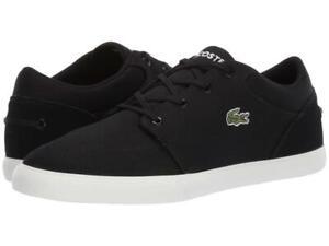 New Men's Lacoste Bayliss 219 Canvas Shoes Size 8.5 9.5 11.5 12.5 Black