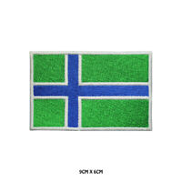 SOUTH UIST County Flag Embroidered Patch Iron on Sew On Badge For Clothes Etc