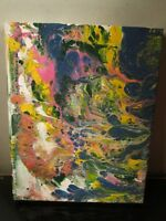 original  abstract painting by musk yai 8x10 ready to hang canvas 2015 1 of a ki