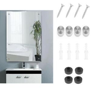 Plain Frameless Unframed Bathroom Mirror with Wall Hanging Fixings 60cm x 45cm