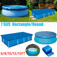 6/8/10/12/15Ft  SWIMMING POOL COVER Round Family Paddling Fast Set Garden Pool