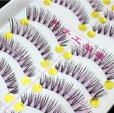 10Pairs Makeup Japanese Handmade Natural Thick Long Cosplay False Eyelashes L-17