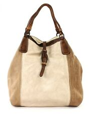 CATERINA LUCCHI Garment Dyed Shopping Bag Beige