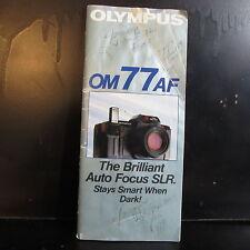 Used Olympus Om77AF camera sytem guide List  O401658