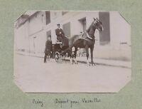 Francia Crecy Carrello Départ Per Versailles snapshot Foto Citrato Ca 1900