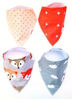 Baffle Baby Bib, Drool Catcher, Spit Up Cloth, 100% Pure Absorbent Cotton 4 Pack