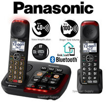 Panasonic Amplified 2 Cordless Phone Digital Answering Link2Cell KX-TGM430B