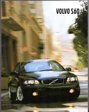 Volvo S60 2001-02 UK Market Sales Brochure T5 D5 2.4T 2.0T