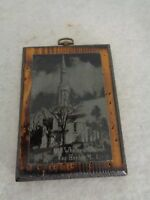 Old Whalers Church Sag Harbor Scene on Wooden Plaque