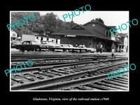 OLD LARGE HISTORIC PHOTO OF GLADSTONE VIRGINIA, THE RAILROAD STATION c1960 1