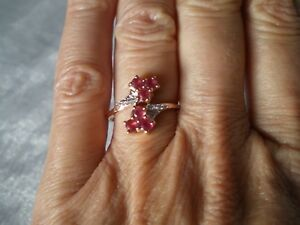 Padparadscha Sapphire ring, 0.94 carats, size N/O,  2.1 grams of 9K Rose Gold
