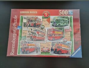 NEW Ravensburger 500 Piece Jigsaw Puzzle, London Buses