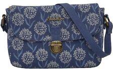 Brakeburn Spring Flower Saddle Bag Blue Floral Cross Body Messenger