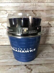 Seattle Seahawks Tailgate Set 4 glasses coasters bucket NFL New