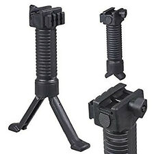 Black Tactical Release Vertical Forward Foregrip Compact Bipod Grip Legs stool
