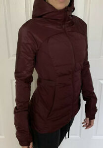 Lululemon Size 6 Down For It All Jacket Cassis CSSI Reflect Thermo 700 Fill Warm