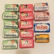 Vintage Lot 14 Soap Bars Edenfield Don Maximo Camay Palmolive Olive Oliva