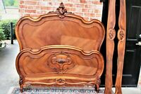 French Antique Carved Walnut Louis XV Queenl Size Bed | Bedroom Furniture