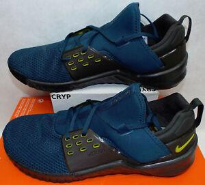 New Mens 14 NIKE Free Metcon 2 Night Shade Bright CItron Shoes $120 AQ8306-300