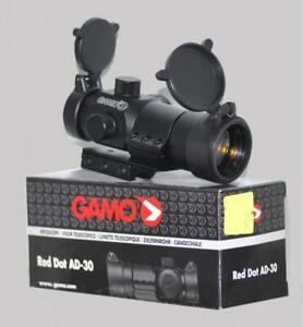 Gamo Red Dot Air Rifle Gun Pistol Sight - flip up lens caps & 11mm mount rail