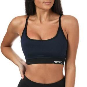 Womens Slazenger Kersee Aqua/Black Bra Top (TGA50) RRP £24.99