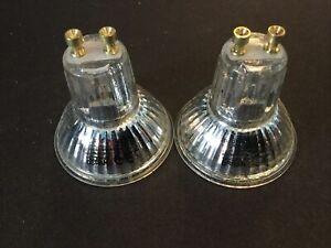 Osram GU10 230V 50W Halogen Lamps X2