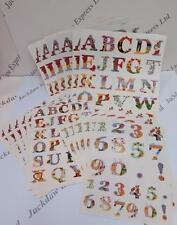 Alphabet & Numbers Die Cut Sticker Pack (408 Die Cuts) 18 Sheets AM849