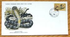 1979 Lesotho Stamp FDC-Wildlife-Snake-The Ringhals WW-217.