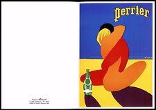 carte postale publicitaire. Perrier . illustration par Villemot ed. Clouet.Dijon