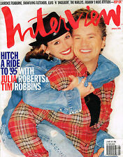 INTERVIEW 1/1995 JULIA ROBERTS & TIM ROBBINS Claire Danes TRACEY ULLMAN Excl-NM