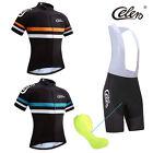 Mens Cycling Jersey Shirts Tops + Bib Shorts Pants Breathable Biking Race Suits