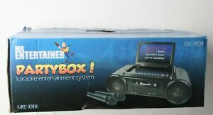 Mr Entertainer Mre-101Bk Partybox Karaoke Machine And Portable Dvd Player