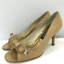 Stuart Weitzman For Russell & Bromley Shoes UK 8.5 Heels Gold Formal 301029