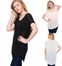 Cap Sleeve Machine Washable Knit Tops & Blouses for Women