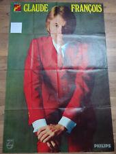 Affiche CLAUDE FRANCOIS Costume rouge 1969 format 80 x 120 cm