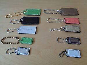 Coach Leather Hangtag Replacement Hang Tag Handbag Chain Charm Choose Color/Size