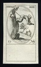 santino incisione 1600 S.PANTALEONE MEDICO M.  j. callot