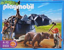 PLAYMOBIL Steinzeit 5103 Höhlenbär mit Höhlenmenschen Bär Waffen Skelett NEU NEW