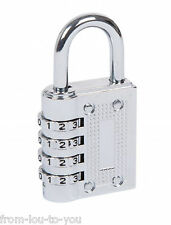 1 X 40mm Combination Padlock Chrome Finish Shed Gate Garage Lock 77022 Fort Knox