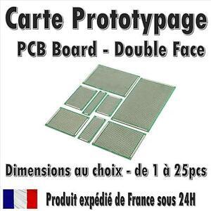 Carte Prototypage - Double face - Pas 2.54mm - (PCB board) - Dimensions au choix