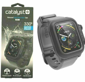 Catalyst Waterproof Case for Apple Watch 44mm Series 4 BLACK WITH A GRAY BAND