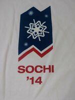 USA Olympics Sochi 2014 Mens T Shirt Size 2XL XXL White Long Sleeve Crewneck