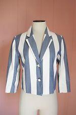 Maison Kitsune Stripe Jacket for JCrew 38 6 Cotton 3/4 Sleeve NWT $535 A5702