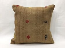 16''x16'' Kilim Pillow Camel Pillow Cushion Cover Handmade Cushion,Camel hair