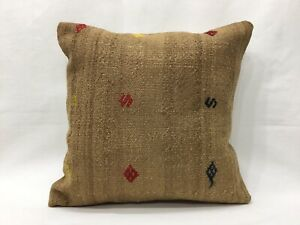 16''x16'' Kilim Pillow Camel Pillow Cushion Cover Handmade Cushion,Camel hair