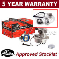 Gates Timing Cam Belt Water Pump Kit For Audi Seat Skoda VW Tensioner KP25491XS