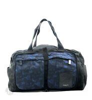 Michael Kors Kent Packable Nylon Black Indigo Convertible Duffle Bag