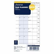 Filofax A6 Personal Year Planner Horizontal 2018 Diary Insert Refill 18-68401